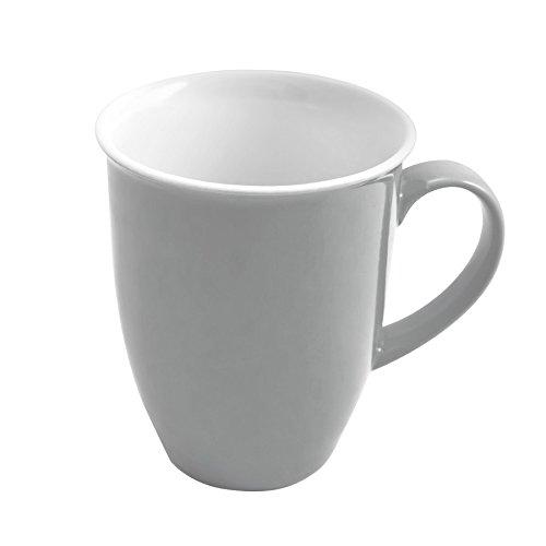 Flirt by R&B 576801 Doppio Kaffeebecher 320 ml, Porzellan, grau (1 Stück)
