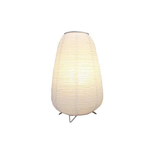 J.SUNUN - Lámpara de mesa de noche de estilo japonés, pequeña lámpara de mesa, lámpara de alimentación caliente, lámpara creativa, lámpara de papel de arroz, luz ambiente suave