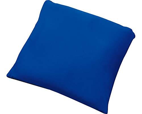 ウォッシャブルパッド車椅子用角座 605S スムースカバー(防水付) ブルー (松本ナース産業)