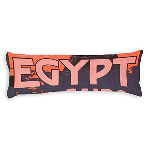 Kissenbezug mit verstecktem Reißverschluss, 50,8 x 137,2 cm, Kairo Ägypten, Vintage-Stil, Reiseposter, weicher Kissenbezug mit verstecktem Reißverschluss, Kissenbezug für lange Körperkissen
