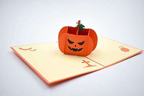 Halloween Pumpkin 3D pop up Greeting Card Gift