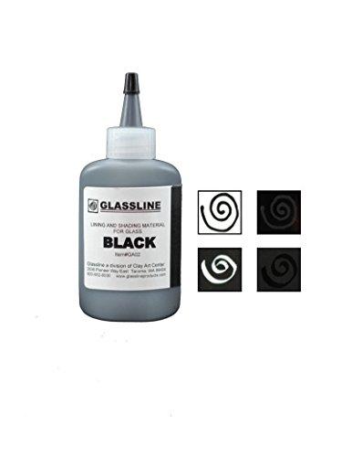 Black GLASSLINE FUSING PAINT PEN 2 oz Bottle