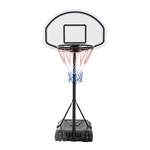 Big Save! FLAWLESSSOT Portable Removable Adjustable Basketball Rack (White & Black 0.9-1.2m)