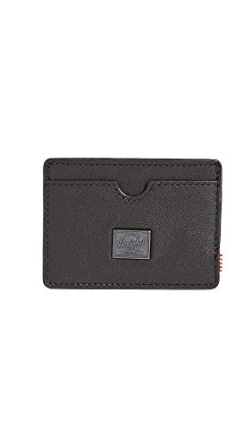 Herschel Supply Co. Men's Charlie Leather RFID Wallet, Black Leather, One Size