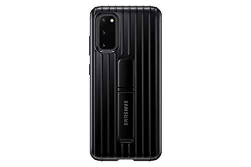 Samsung Protective Standing Smartphone Cover EF-RG980 für Galaxy S20 | S20 5G Handy-Hülle, Schutz, ausklappbarer Standfuß, griffige Oberfläche, schwarz
