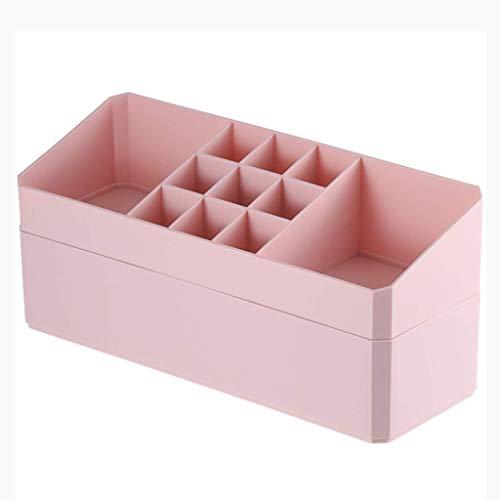BOX Doble Capa Plástica Y Estética Caja de Almacenamiento de Escritorio Inicio...