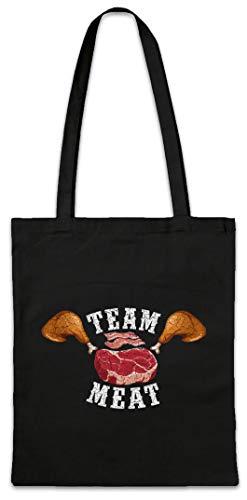 Urban Backwoods Team Meat Hipster Bag Beutel Stofftasche Einkaufstasche