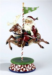 Heartwood Creek Jim Shore 4012092 Santa with Reindeer Carousel