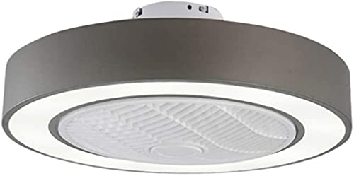 Ventiladores De Techo Con Luces, Control Remoto Ultra Fan Led Regulable Para Habitación De Niños Ventilador Invisible Gris Claro