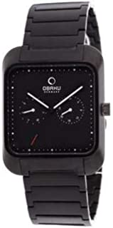 Obaku Harmony Black IP Stainless Steel Mens Watch V145UBBSB