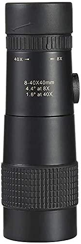 MWKL Telescopio del Poder más Elevado, monocular al Aire Libre del Zoom de los telescopios 8-40X40 de los Accesorios para Acampar
