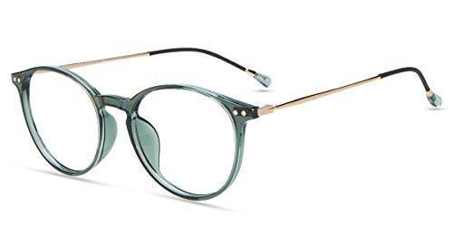 Firmoo Anti Blaulicht Computerbrille Entspiegelt, Blaulichtfilter Brille ohne Sehstärke für Damen Herren, Blaulicht UV Schutzbrille für Bildschirme Anti Müdigkeit Kopfschmerzen, Blaufilter Gläser Grün