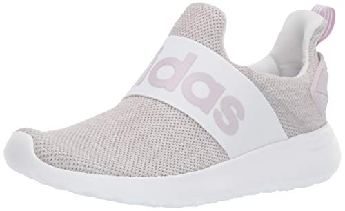 adidas Women's Lite Racer Adapt Running Shoe, white/mauve/grey, 7 M US