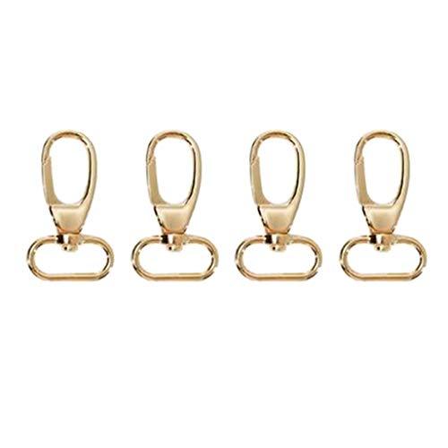 Bonarty 4 Stück Schwenker Hummer Haken Schlüsselanhänger Karabiner Schlüsselbund Drehverschlüsse für Schlüsselringe - Golden