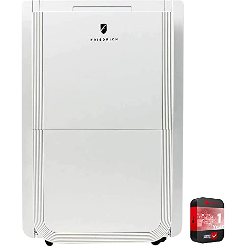 Friedrich D50B1A 50-pint 115V Energy Star Dehumidifier Bundle with 1 Year Extended Protection Plan