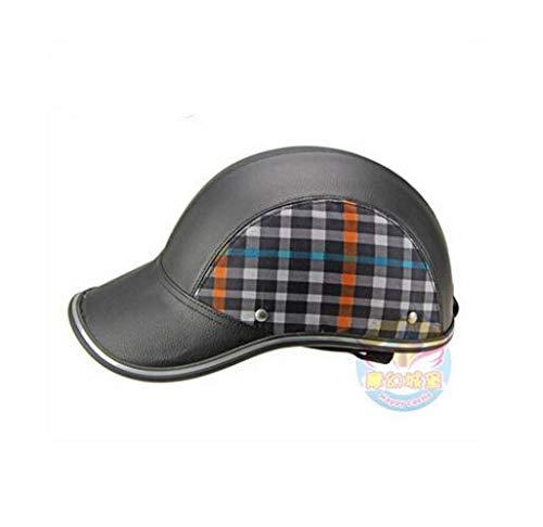 MYSdd Motorradhelm halben Helm 55-60 cm Baseballmütze Stil Anti-Sag Anti-UV-klassischen Stil 8 Farben Aden für Moto - 8