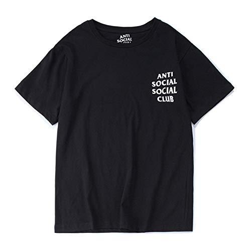 Unisex Hip Hop Mode Anti Social Social Club T-Shirt Sweat Tee Style Tee (Schwarz, M)