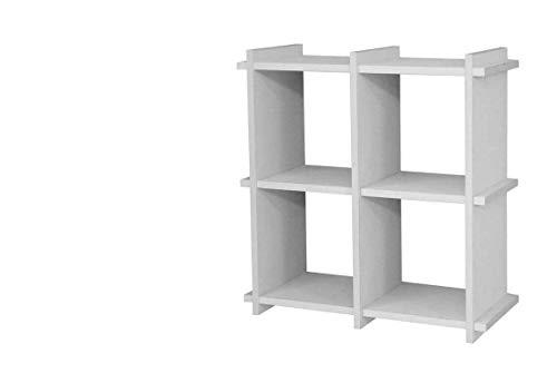 Kasahome Estante de pared con forma de cubos, módulo de madera MDF blanco o roble de 35 x 35 cm (blanco)