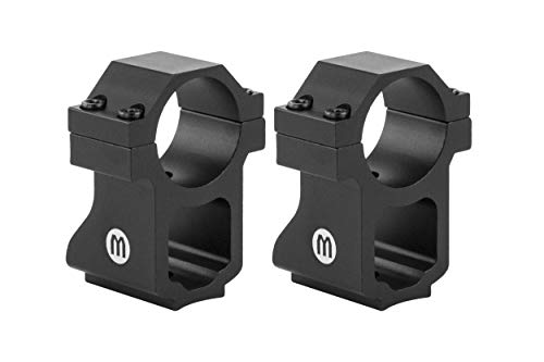 Monstrum Ruger 10/22 Rifle Scope Rings with See-Through Base | 1 Inch Diameter