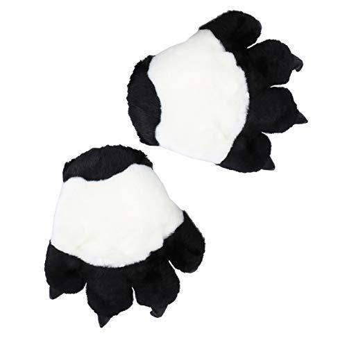 VALICLUD Tier Kralle Pfote Handschuhe Kinder Kostüm Klaue Handschuhe Plüsch Panda Pfote Geschenke für Kinder Winter Weihnachten Rollenspiel Kostüm Party Gefälligkeiten