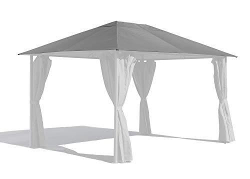 GRASEKAMP Qualität seit 1972 Ersatzdach 3x4m Gartenpavillon Nizza Grau Pavillon Partyzelt