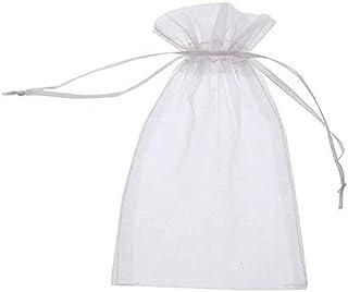 5,9  x 7,8 Schmuckbeutel Bonbontaschen f/ür Hochzeitsfeiern 15 cm x 20 cm 100 St/ück Organza-Beutel mit Kordelzug Organza-Geschenkt/üten