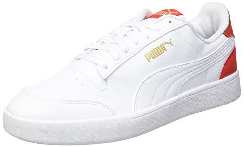 Puma Shuffle, Zapatillas Deportivas Unisex Adulto, Blanco White White Poppy Red, 48.5 EU