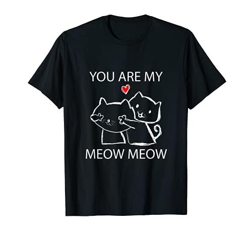 Katze Verliebte Paare Liebesbeweis Valentinstag Geschenke T-Shirt