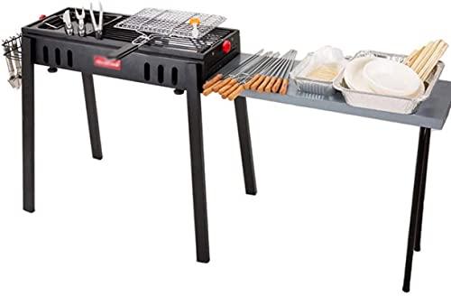 Parrilla Barbacoa Al aire libre Plegable Barbacoa Hogar 5 Personas Carbón de barbacoa Campo de espesamiento Barbacoa BBQ Grill (Color: B)