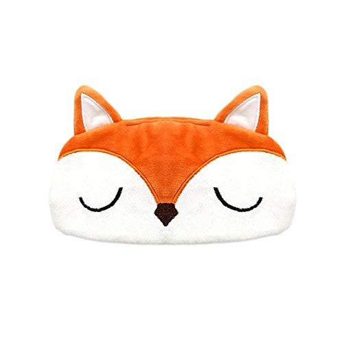 Groust Masques de Sommeil, 3D Masque de Nuit Voyage Peluche Animaux pour Les Yeux des,Drôle Doux Mignon Animaux pour Dormir Respirant Bande Dessinée F