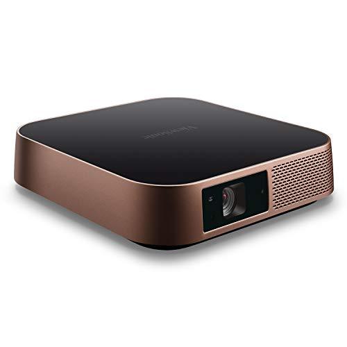Viewsonic M2 Portabler LED Beamer (Full-HD, 1.200 Lumen, Rec. 709, HDMI, USB, USB-C, WLAN Konnektivität, Bluetooth, SD-Kartenleser, 2x 3 Watt Lautsprecher) metallic-bronze