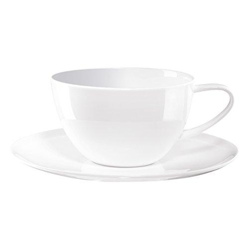 ASA A Table Café Au Lait Tasse, Porzellan, Weiß, 12.1 cm, 2-Einheiten