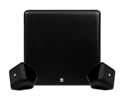 Boston Acoustics SoundWare XS 2.1 Hochleistungs Stereo Lautsprecher System (Subwoofer 100 Watt, BassTrac) schwarz