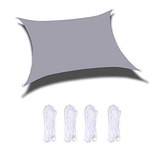 JNYB Toldo rectangular de 6 x 7 pies, con protección UV, para patio, jardín, exterior, toldo, color gris