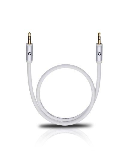OEHLBACH I-Connect J-35 - Mobiles AUX Audiokabel, 3,5mm Klinke für Kopfhörer, KFZ, Smartphones (Stereo, Klinkenkabel, OFC, geschirmt) - 50 cm weiß
