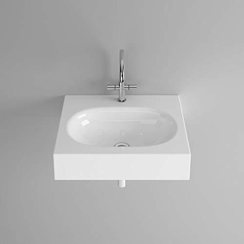 Bette Comodo wastafel voor wandmontage zonder kraangat, A210 600 x 495 mm, Kleur: Wit - A210-000
