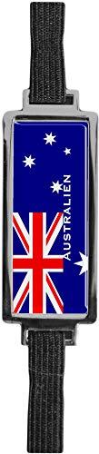 Schmucklesezeichen aus Metall mit gerader Kontur | Flagge Australien #9923008