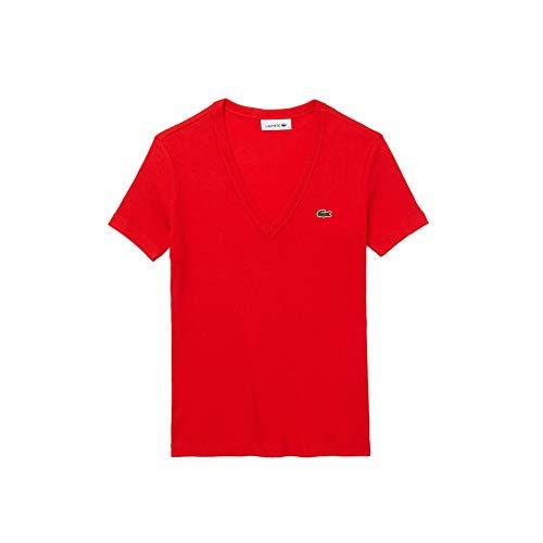 Lacoste TF5457 T-Shirt, Groseillier, 36 Femme