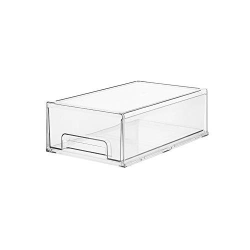 LHTCZZB Type de tiroir de stockage peut incruster et à Classified frais Magasin de maintien de la boîte PRT Matériel Réfrigérateur Stockage des ménages frais de maintien de légumes et de fruits Boîte