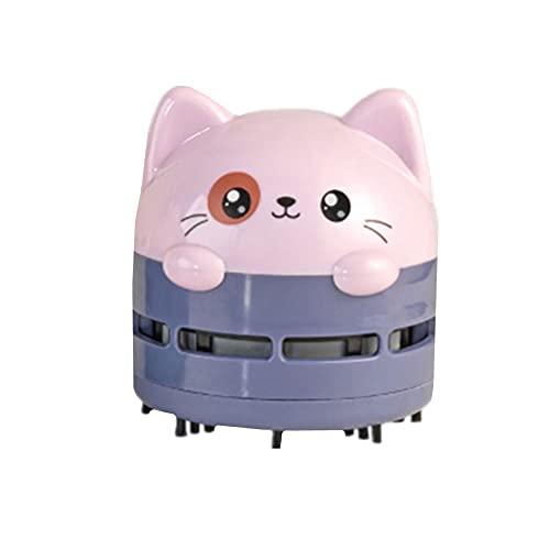 KUOZEN Miniaspirador Mesa Aspiradoras Hogar Mini aspiradora de Escritorio Mini aspiradora de Mano Aspiradora de Escritorio Mini Mesa de vacío Limpiador Purple,One Size
