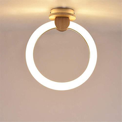 Robuuste led-plafondlamp van hout, creatieve Scandinavische persoonlijkheid Aisle lamp, modern, minimalistisch, balkon, rond restaurant, slaapkamer, plafondlamp