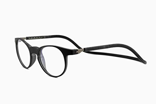 SPORTS WORLD VISION'sLunettes de lecture magnétiques Slastic Clic Style (noir) Soho 002 Lunettes de lunettes...