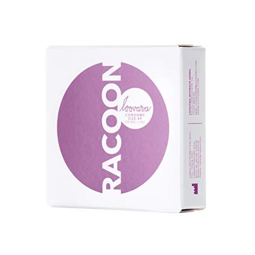 Loovara 3 Kondome in individuellen Größen - Kondomgröße 49 - Size Racoon - Kondome dünn aus Fair Rubber - Für mehr Fun & Feeling beim Sex - Vegane Präservative im 3er Pack