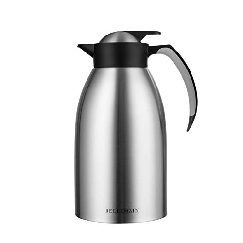 Bellemain Premium Thermal Coffee Carafe Stainless Steel 2 Liter /8 cup Double wall insulated vacuum carafe