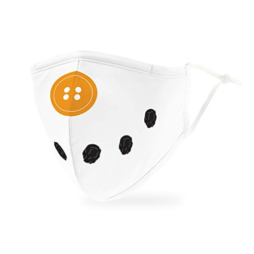 Weddingstar kinder waschbare, Mundschutzmasken aus Stoff. Wiederverwendbar und verstellbar mit Staubfiltertasche - Schneemann