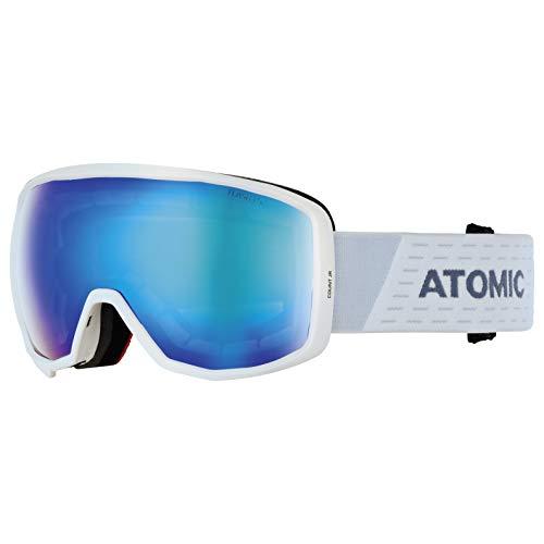 ATOMIC Unisex Jugend Count JR Spherical Goggles, Weiß-Blau/Blau Flash, One Size