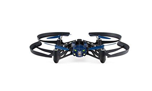 Parrot Airborne Night McLane - Dron cuadricóptero (Luces LED, cámara vertical 30 FPS, 18 Km/h, 9 minutos de vuelo, 20 metros de alcance, programable), color azul