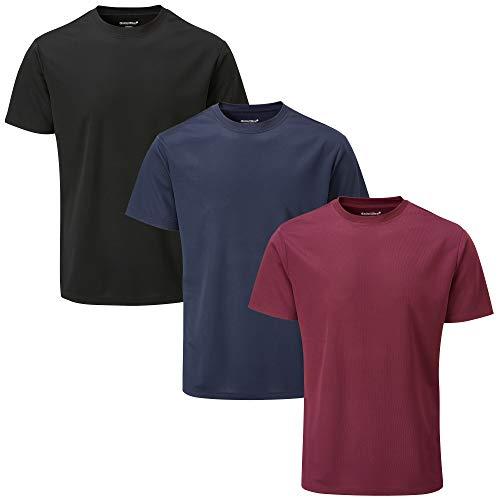 Charles Wilson 3 Pack Men's Short Sleeve Sports Gym T-Shirt (XXL, Dark Essentials (0520))