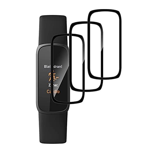 GEEMEE Schutzfolie Bildschirmschutzfolie für Fitbit Luxe,【3 Stück】 HD TPU-Materia Weich Folie Anti-Bubble Einfache InstallationNass angewendet Schutzfolie