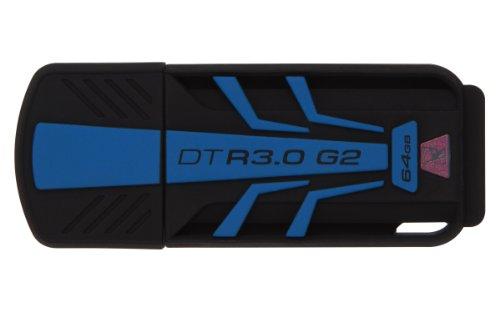 Kingston DTR30G2/64GB Chiavetta USB, 64 GB, USB 3.0, Velocità Lettura, 120 Mb/s, Velocità Scrittura, 45 Mb/s, Nero